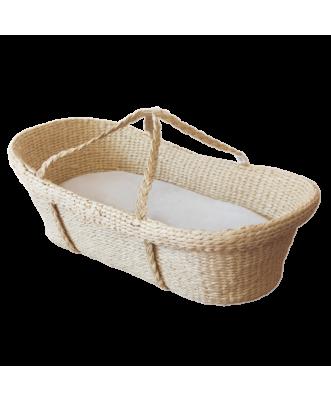 Moses Basket and Wool Mattress