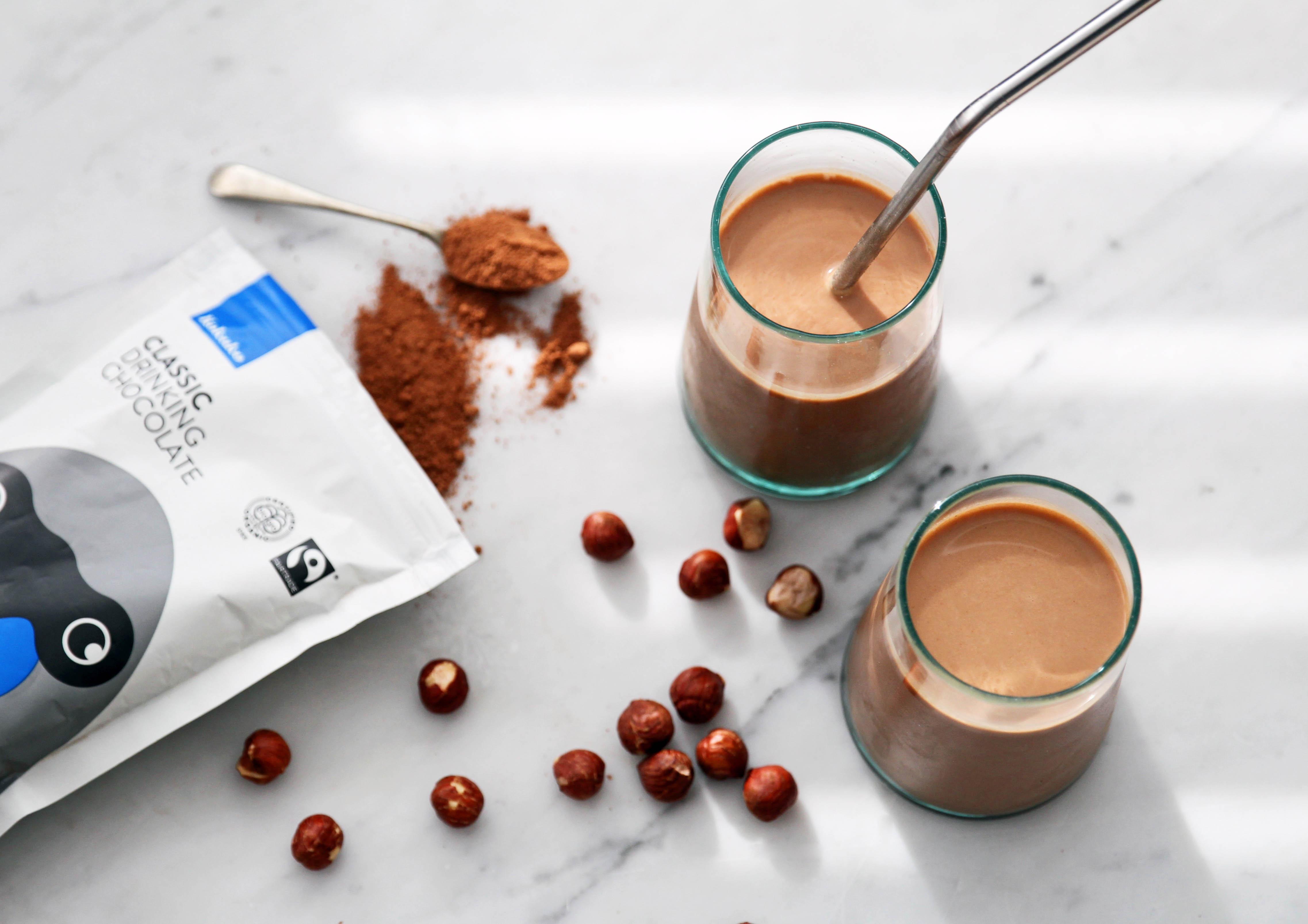 recipe: roasted hazelnut & chocolate milk